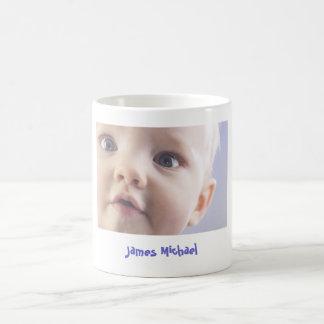 Taza de café personalizada de la foto del bebé