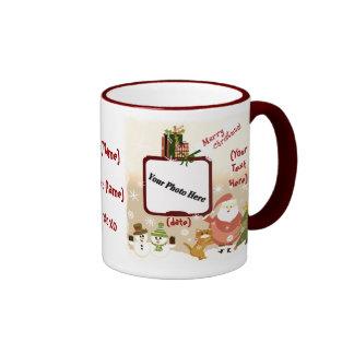 Taza de café personalizada de la foto del navidad