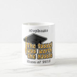 Taza de café personalizada de Tassle del casquillo