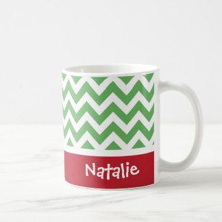 Taza de café personalizada del navidad