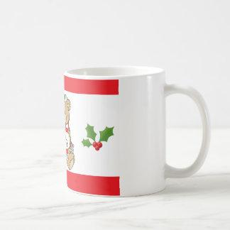 Taza de café personalizada del oso del navidad de