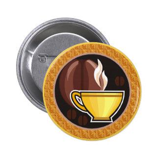 Taza de café pin redondo 5 cm
