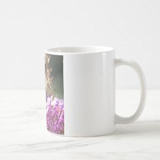 Taza de café pintada macro de señora Butterfly