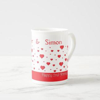 Taza de café - porcelana de hueso - 2do taza de porcelana