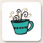 Taza de café posavasos