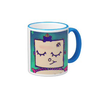 Taza de café preciosa del robot del chica