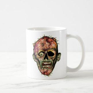 Taza de café principal del zombi
