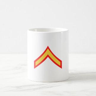 Taza de café privada de la primera clase del USMC