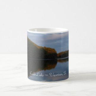Taza de café - puesta del sol del lago Caddo