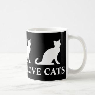 Taza de café real de los gatos del amor de los