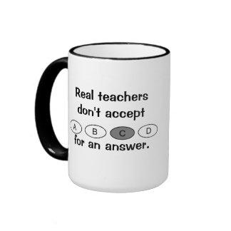 Taza de café real de los profesores