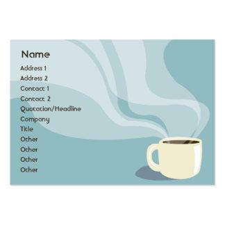 Taza de café - rechoncha tarjetas de visita grandes