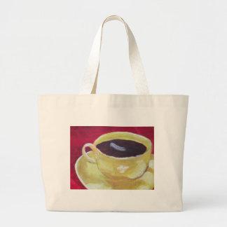Taza de café retra bolsa tela grande
