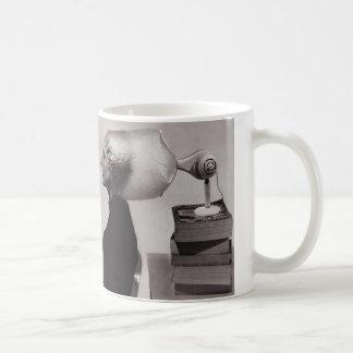 Taza de café retra de la belleza