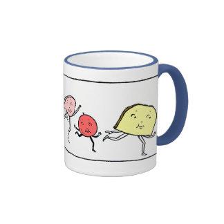Taza de café retra del arte de la cocina de las