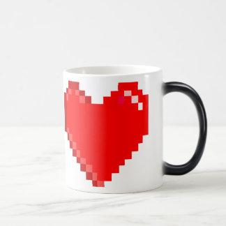 """taza de café retra del """"corazón"""" del arte de 8"""