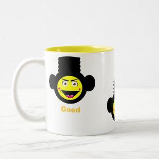 Taza de café retra del mono del Alto-Top