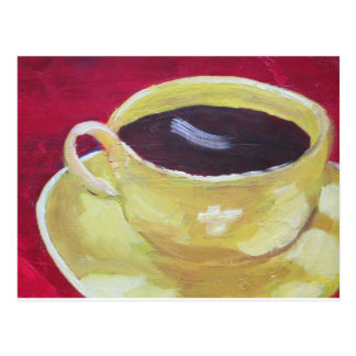 Taza de café retra tarjetas postales