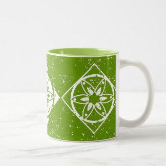 Taza de café reversa del modelo del edredón