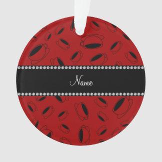 Taza de café roja conocida personalizada