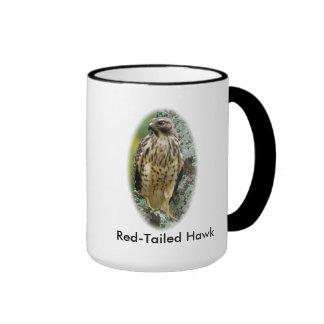 Taza de café Rojo-Atada del halcón