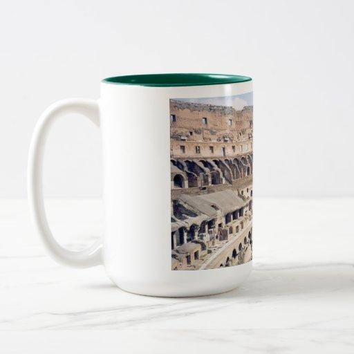 Taza de café romana de Colosseum