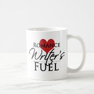 Taza de café romántica del combustible del escrito