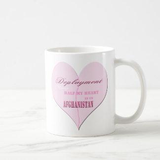 Taza de café rosada de Afganistán del despliegue