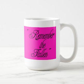 Taza de café rosada del navidad - rosa