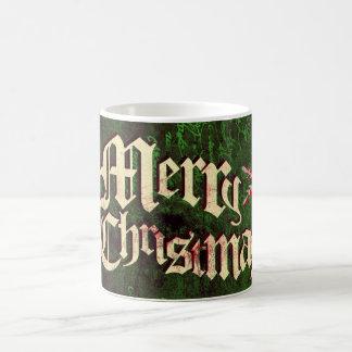 Taza de café rústica del navidad del Grunge
