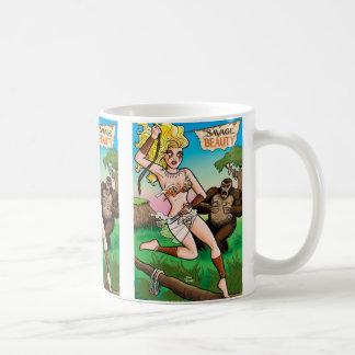 Taza de café salvaje de la belleza