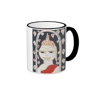 taza de café serena de Buda
