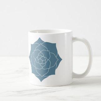 Taza de café - silueta del Succulent de los azules