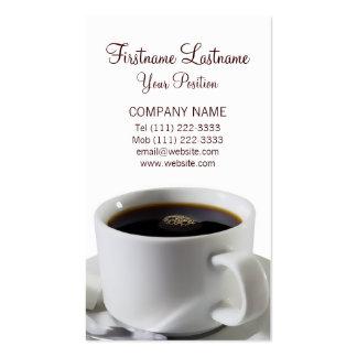 Taza de café sólo tarjeta de visita
