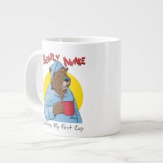 Taza de café soñolienta de la novedad del oso taza grande