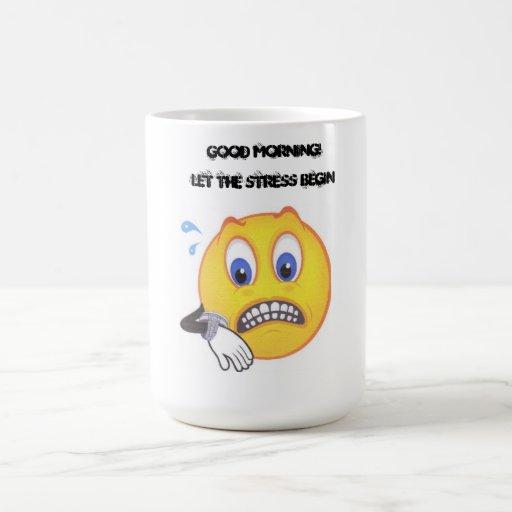 Taza de café sonriente subrayada