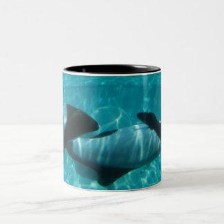 Taza de café subacuática de las ballenas