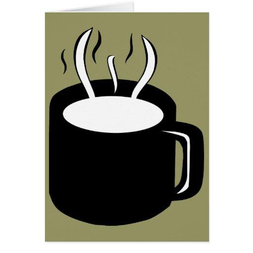 Taza de café/taza - cocido al vapor de la bebida tarjeta de felicitación