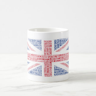 Taza de café tipográfica única del diseño de