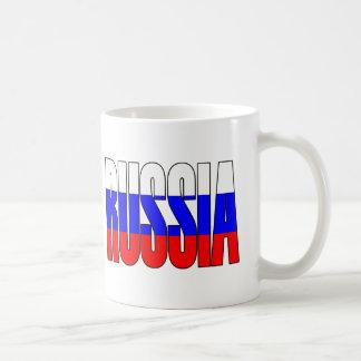 Taza de café tricolora de Rusia