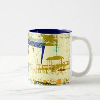 Taza de café urbana de la selva