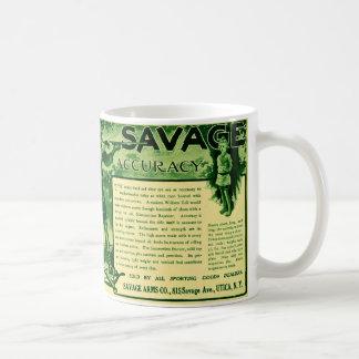 Taza de café verde del anuncio del arma de las