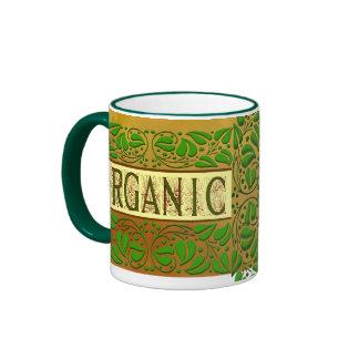 Taza de café verde orgánica del lema