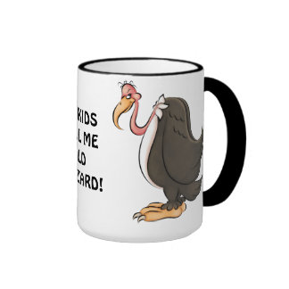 Taza de café vieja del halcón