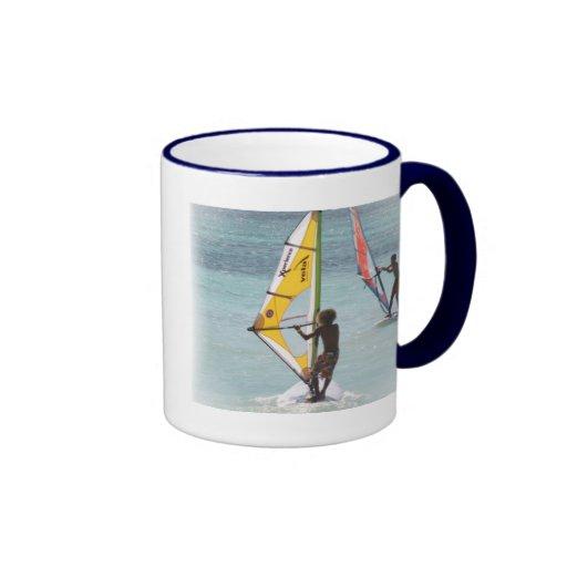 Taza de café Windsurfing de los pares