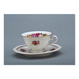Taza de café y platillo del siglo XIX, Rosenthal, Invitación 12,7 X 17,8 Cm