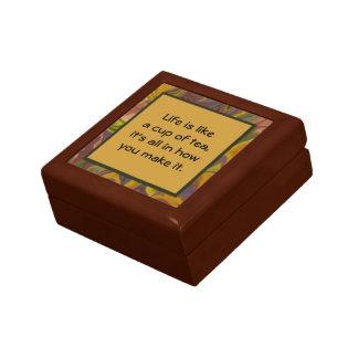 taza de caja de regalo del té joyero cuadrado pequeño
