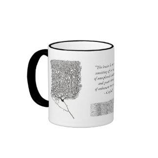 Taza de Cajal con la célula de Purkinje