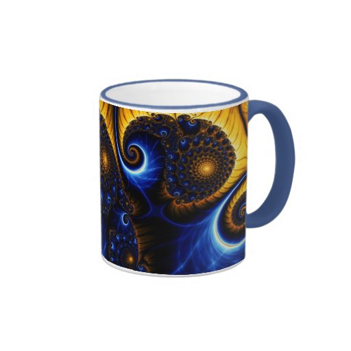 Taza de cerámica abstracta del cielo azul del