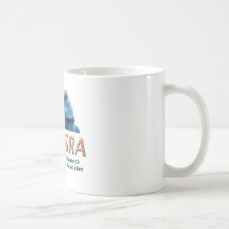 Taza de cerámica blanca clásica de NESRA - logotip